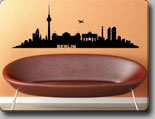 Berlin Wandtattoo Skyline