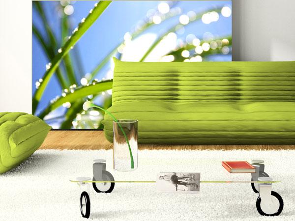 fototapete wohnzimmer motiv:Gräser Fototapete Gräser mit Tau Gras ...